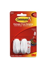 3M Command COMMAND SMALL WHITE DESIGNER PICTURE HOOKS 2 PACK 450G 1LB