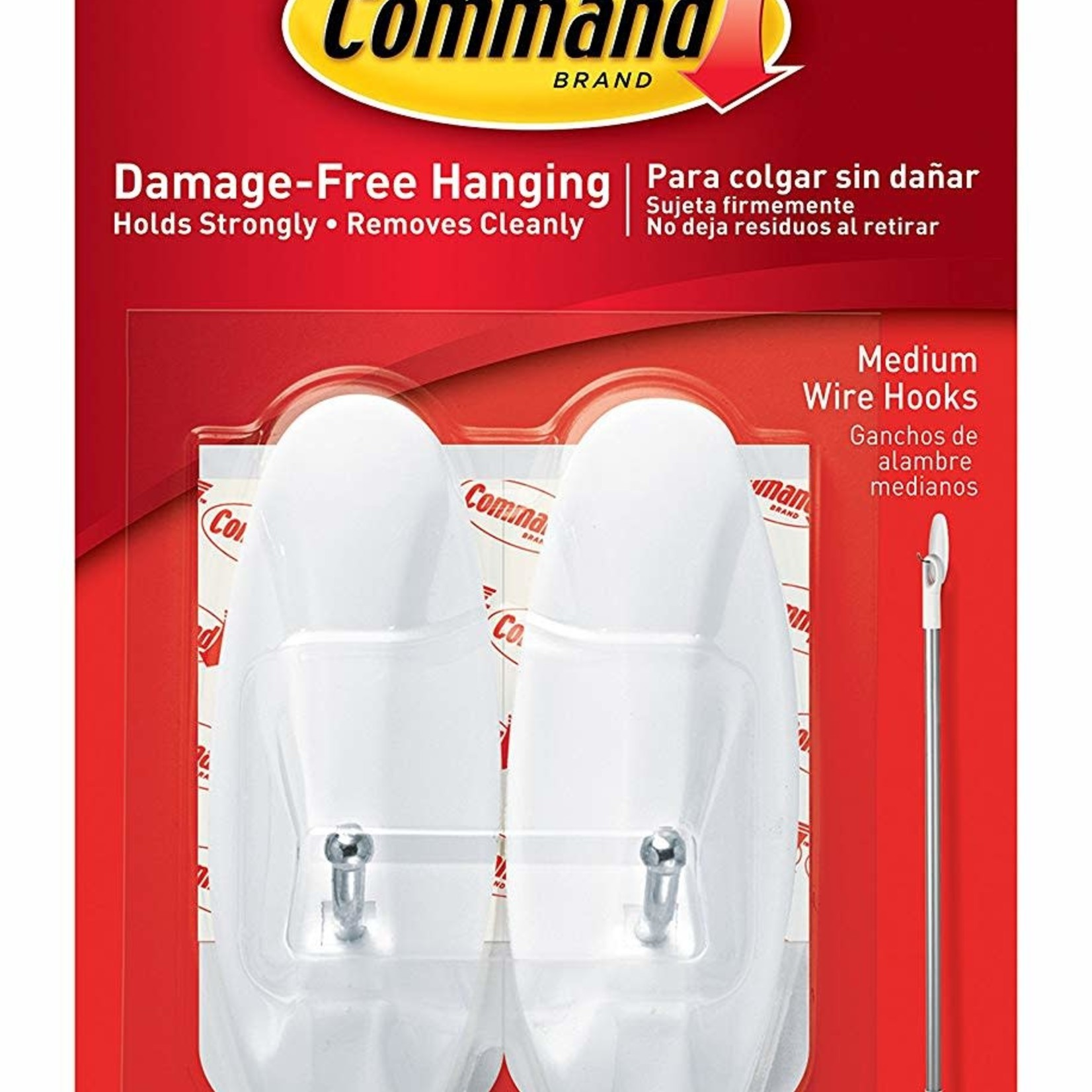 3M Command COMMAND MEDIUM WIRE HOOKS PICTURE HANGING 2 PACK