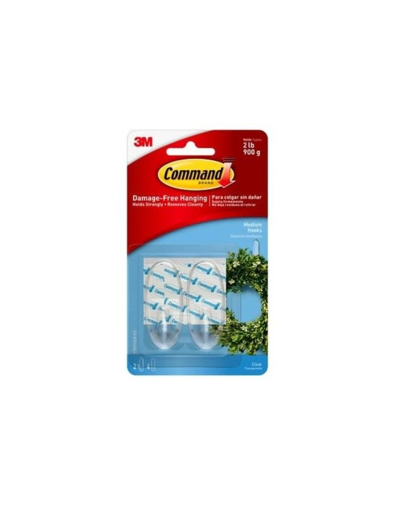 3M Command COMMAND MEDIUM PICTURE HOOKS CLEAR 2 PACK 2LB 900G