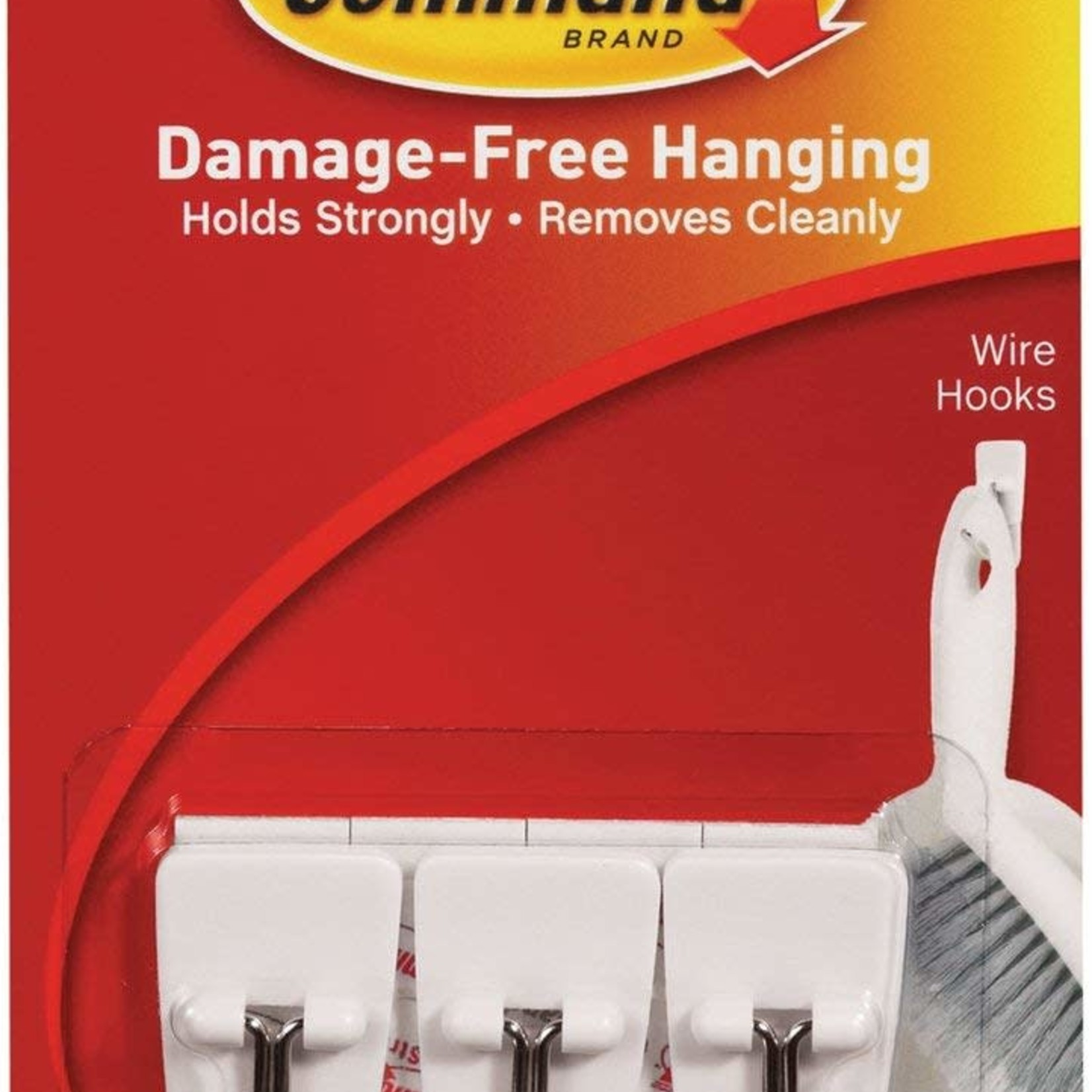 3M Command COMMAND SMALL WIRE HOOKS PICTURE HANGING 3 PACK 225G