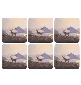 Creative Tops CREATIVE TOPS HIGHLAND STAG PACK OF 6 PREMIUM COASTERS