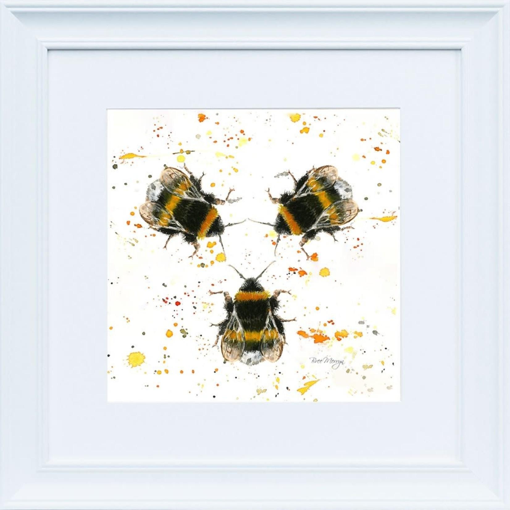Bree Merryn Three Bees White Frame 48cm