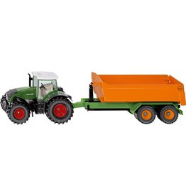 Siku 1:50 FENDT TRACTOR WITH HOOKLIFT TRAILER & CARRIAGE