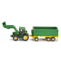 Siku SIKU JOHN DEERE FRONT LOADER AND TRAILER 1:87