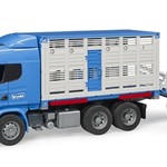 Bruder BRUDER SCANIA R-SERIES CATTLE TRANSPORT TRUCK LORRY WITH 1 COW