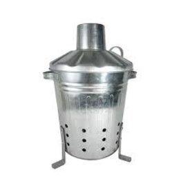 Apollo Gardening 80L Litre Galvanised Metal Incinerator Handles & Aeration Holes