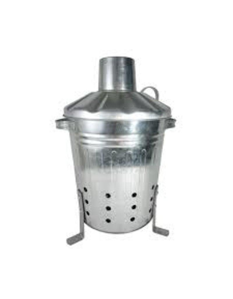 Apollo Gardening 80L Litre Galvanised Metal Incinerator Handles & Aeration Holes
