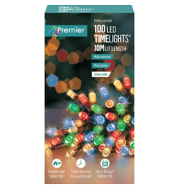 100 M-A B-O Multi-colour LED Lights With Timer