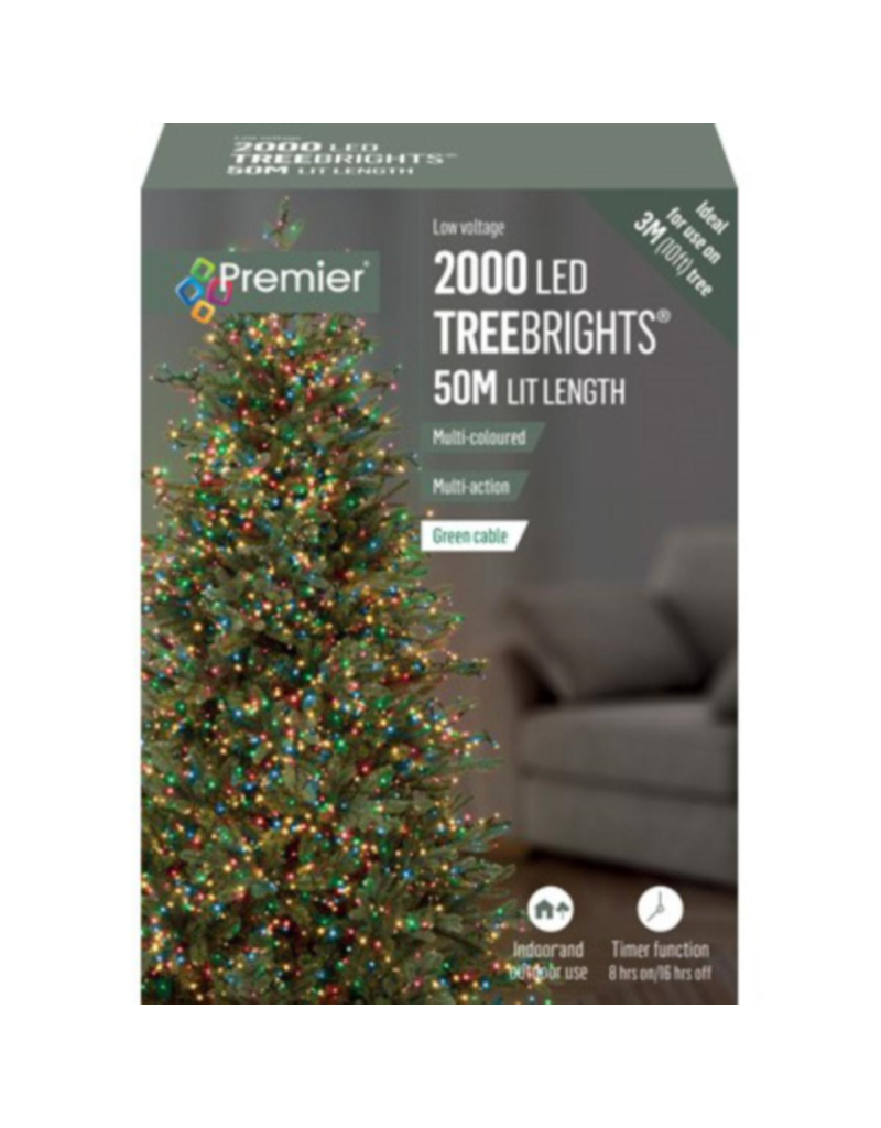 2000 M-A Led TreeBrights Timer Multi colour