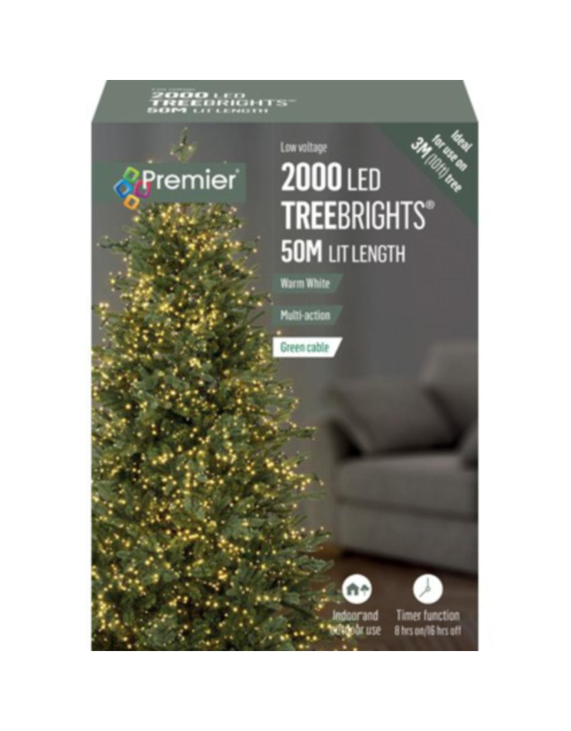 2000 M-A Led TreeBrights Timer Warm White