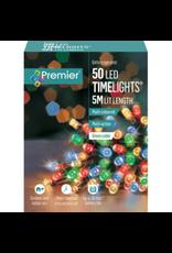 50 M-A B-O Multi-colour LED Lights With Timer