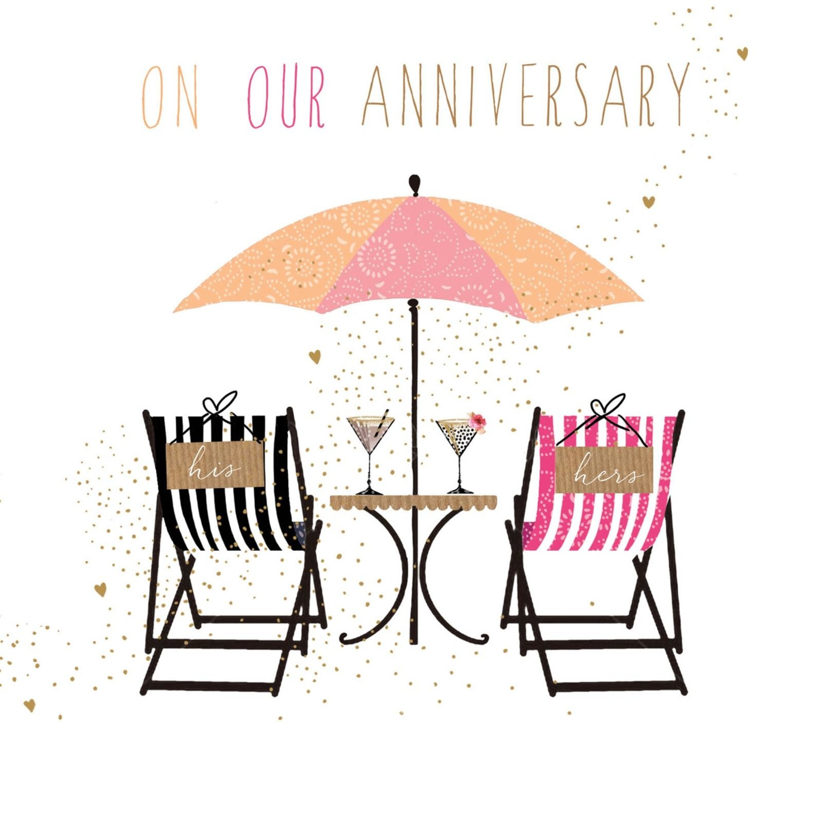 Portfolio Cards SM/On Our Anniversary Deckchairs Card