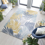 Dimensions Outdoor Tropic Ochre/Blue 120x170