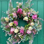 FLORAL BLOSSOM WREATH 60CM