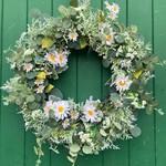 Daisy Garden Wreath 50cm