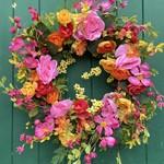 Summer Burst Floral Wreath 60cm