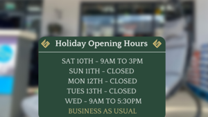July Bank Holiday Opening Hours