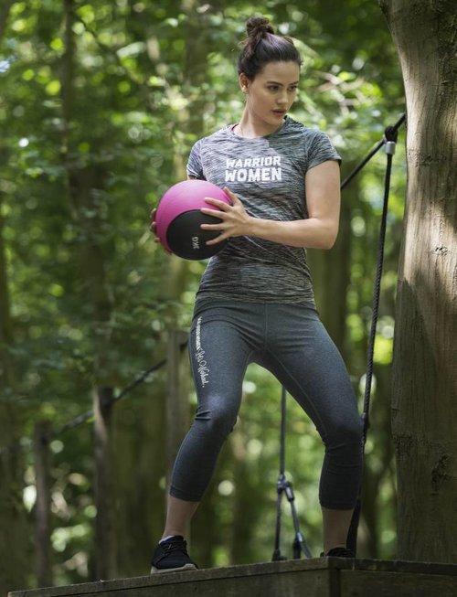 WARRIOR WOMEN Sport T-shirt: WARRIOR WOMEN (grijs gemeleerd)