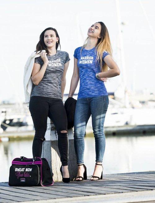 WARRIOR WOMEN T-shirt WARRIOR WOMEN  (blauw gemeleerd)