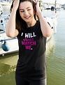 WARRIOR WOMEN T-shirt: I will, just watch me (zwart)