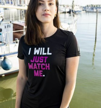 WARRIOR WOMEN T-shirt: I will, just watch me (zwart)