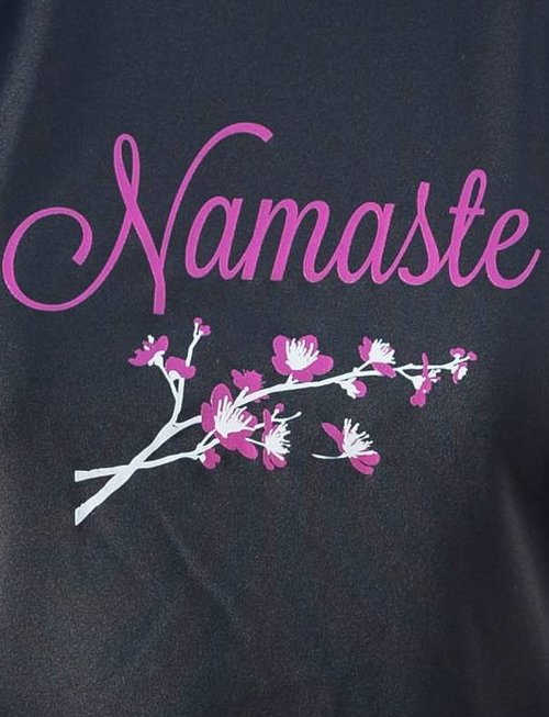 WARRIOR WOMEN Sport shirt: Namaste (zwart)