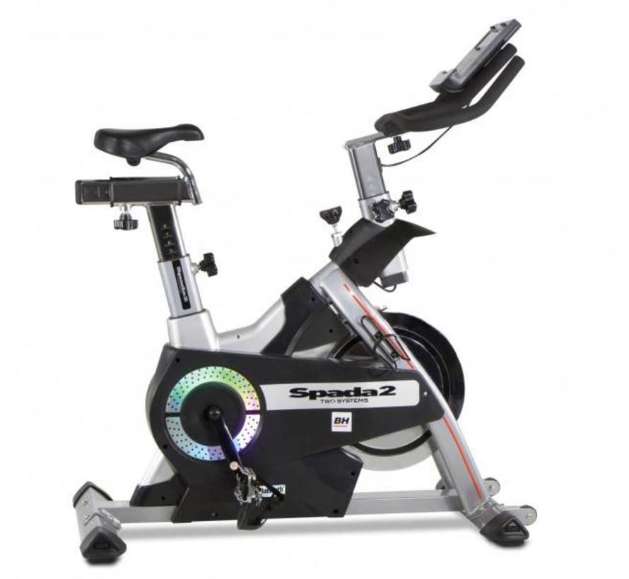 BH SPADA II Indoor Cycle met dubbele weerstand