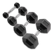 Body-Solid Body-Solid Hexagon Rubber Dumbbell - Pair