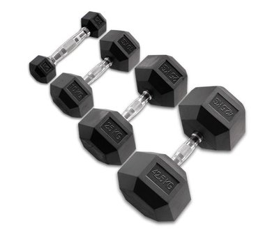 Body-Solid Body-Solid Hexagon Rubber Dumbbell - per Paar