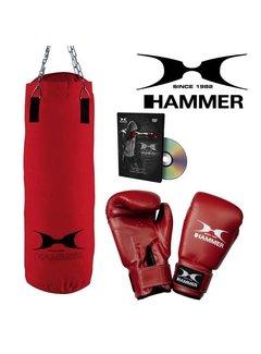 Hammer Boxing Hammer Boxing Set FIT - Bokszak 60 cm met Bokshandschoenen 10 oz nylon en DvD