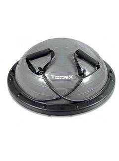 Toorx Fitness Balanstrainer PRO  - Ø 58 cm - Zwart/Grijs - met Resistance Tubes - incl pomp