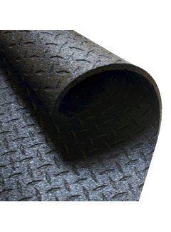 Body-Solid Beschermmat/Vloermat - 183 cm x 122 cm x 1,27 cm  - Zwart - Rubber