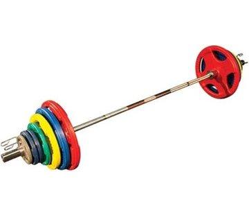 Body-Solid Olympische Halterset - Gekleurd Rubber - 140 kg