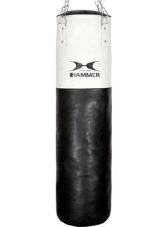 Hammer Boxing Bokszak, Kunstleer, White Kick, 100x35 cm