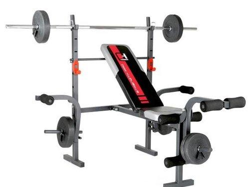 Hammer Fitness Hammer BERMUDA (incl. 25 kg. Gewichtenset)