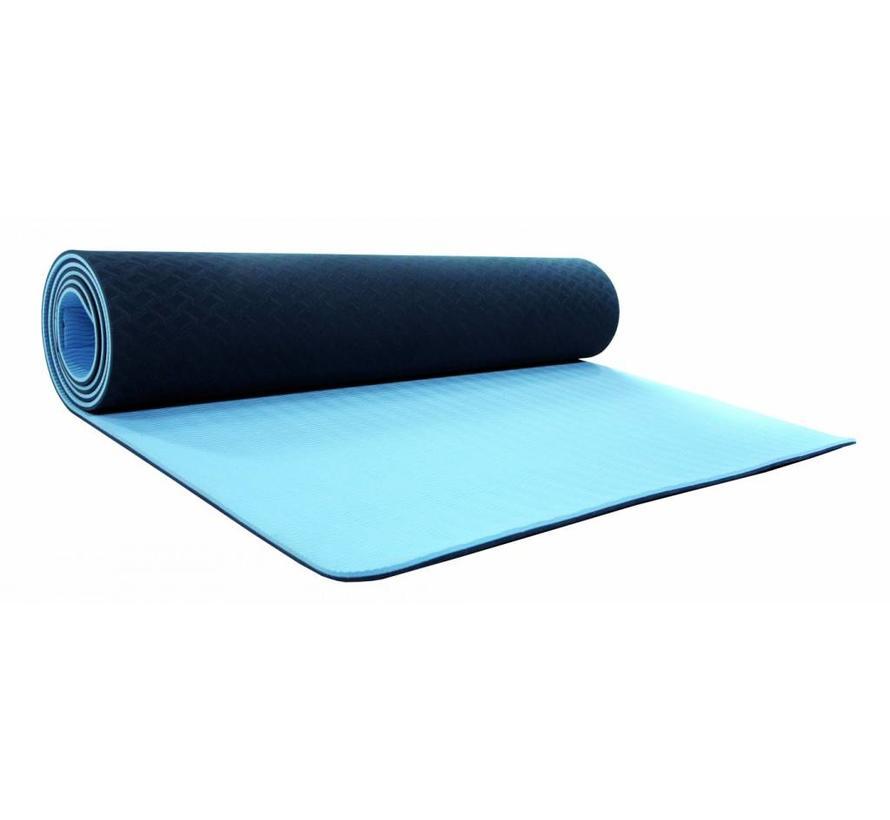 YOGAMAT ALAYA (180 x 61 x 0,6 cm) blauw/zwart