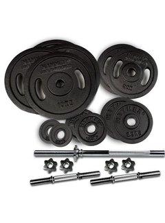 Hammer Fitness 73 kg SET Halterschijven Gietijzer en halterstangen
