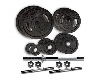 Hammer Fitness Gewichtenset met stangen 53 KG