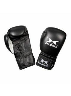Hammer Boxing Bokshandschoenen PREMIUM FITNESS - buffelleer - zwart