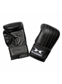 Hammer Boxing Zakhandschoenen Punch - Leer - Voorgevormd - Zwart