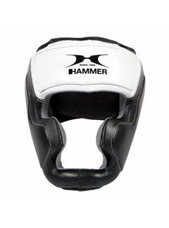 Hammer Boxing HOOFDBESCHERMER Sparring - leer - Zwart/Wit