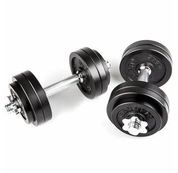 Hammer Fitness Hammer Dumbbell Set Zwart 30kg (2x 15kg)