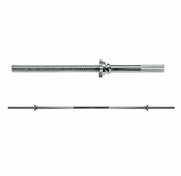 Body Trading BodyTrading STBARTR180 - Standaard Halterstang incl. Sluiting - 180cm - 25mm