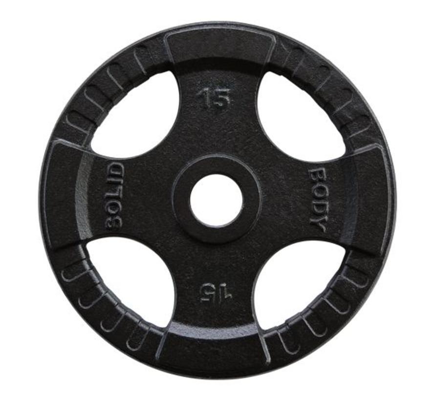 Body-Solid 140 kg set olympische gewichten + stang + sluitveren