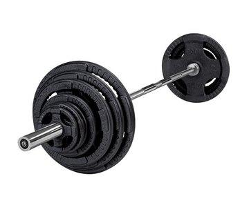 Body-Solid Body-Solid 140 kg set olympische gewichten + stang + sluitveren