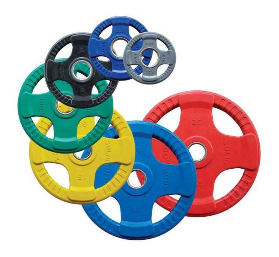 Body-Solid Gekleurde Rubberen Olympische Halterschijven 50 mm ORCK - per stuk