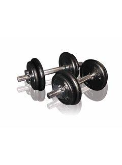 Toorx Fitness Dumbbellset 20 kg met Koffer