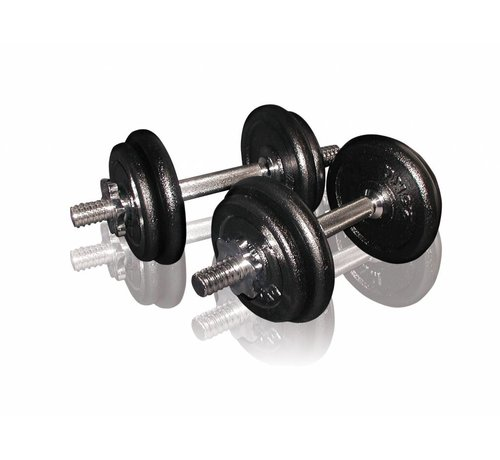 Toorx Fitness Toorx Fitness - Dumbbellset 20 kg - gietijzer - met Koffer