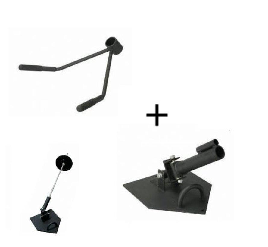 Toorx Total Core Landmine Platform - inclusief T-bar