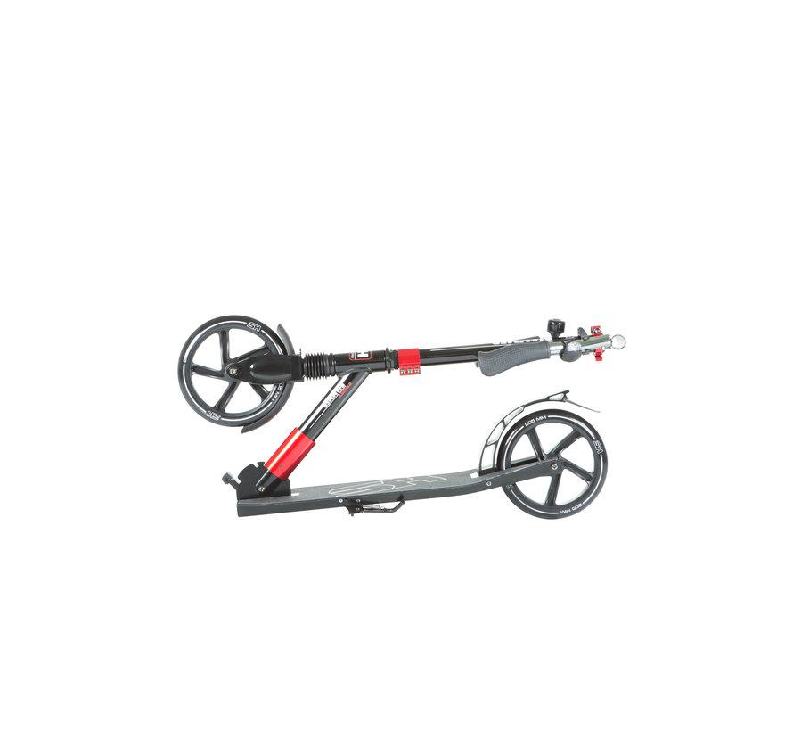 Hammer Street Scooter RX5 - Voor Kids - Inklapbaar - Zwart/Rood - met LED verlichting - 93 cm